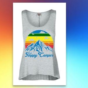 Happy Camper Tank Top RV Tee Shirt NEW Outdoors